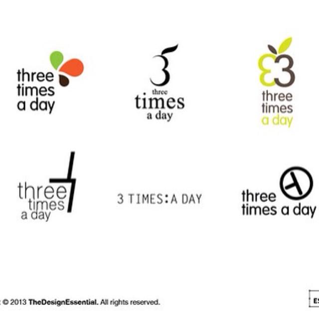 3 times a day logo