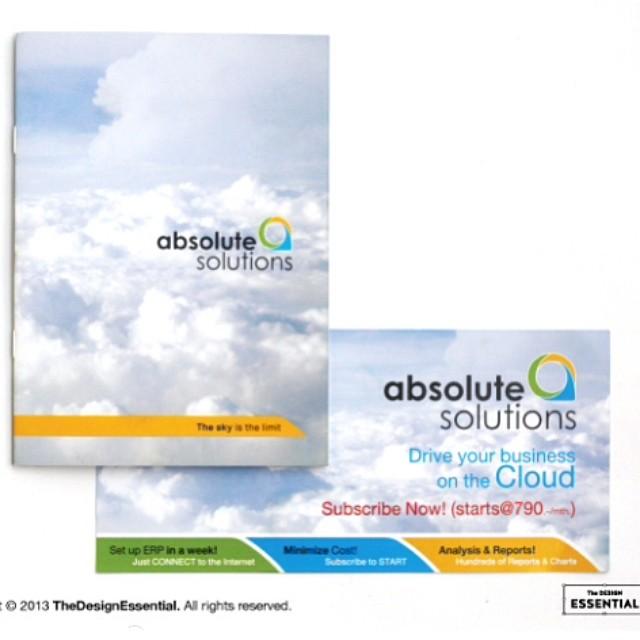 ออกแบบโลโก้ และ สิ่งพิมพ์สำหรับบริษัท software absolute solutions