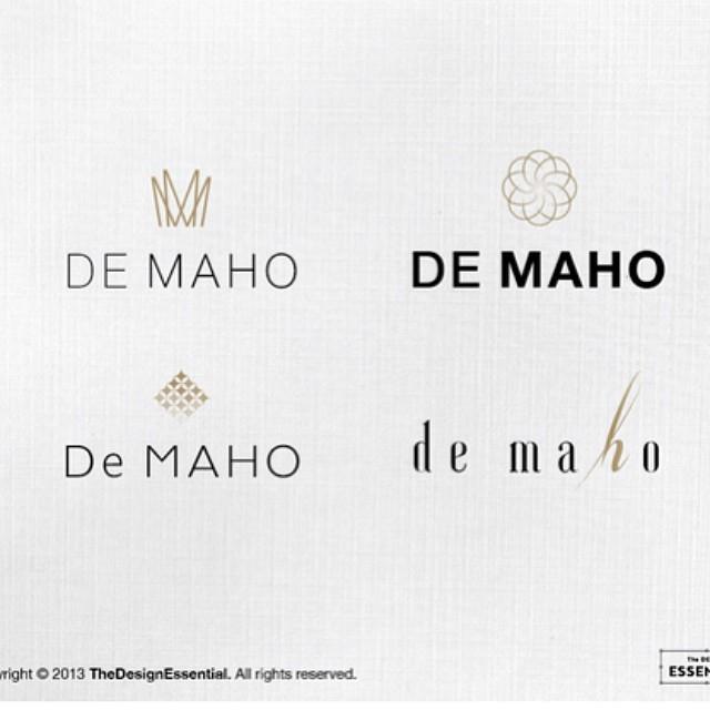 ออกแบบโลโก้ให้ brand เครื่องสำอางค์ de maho