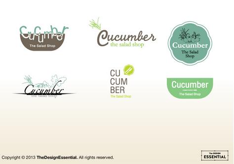 ออกแบบโลโก้ให้กับร้านสลัด Cucumber ออกแนว organics น่ากิน :)